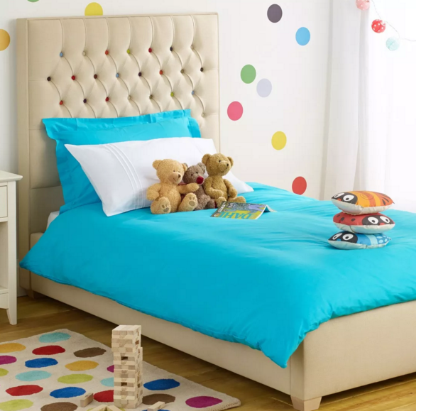 Ollie and Leila child's bed upholstered