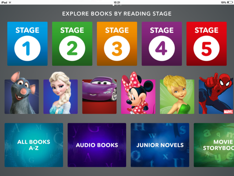 DisneyLife App books