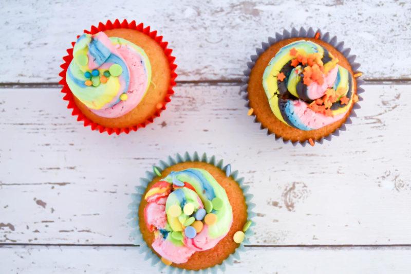 unicorn poo cupcakes