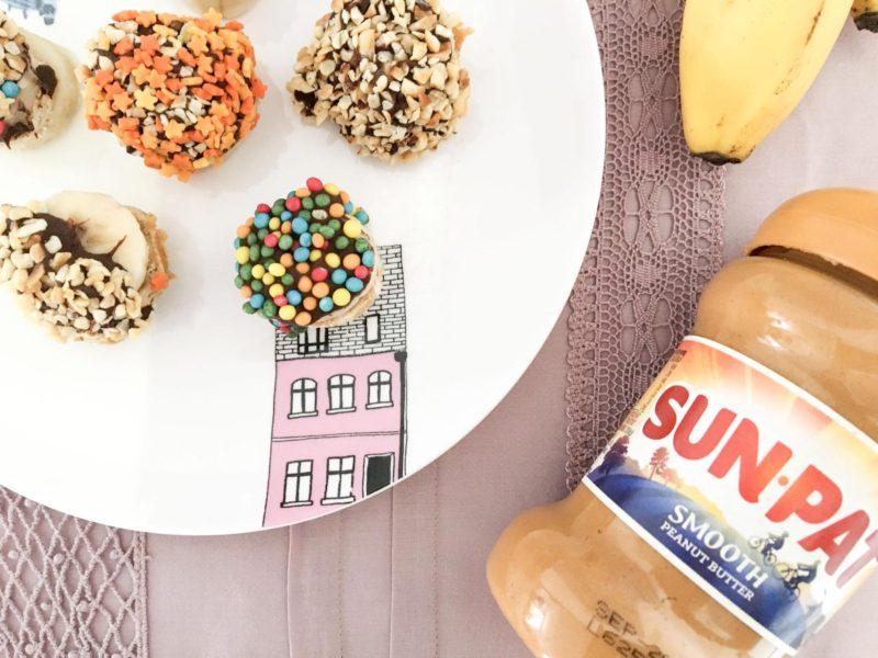 frozen peanut butter and banana treats recipe
