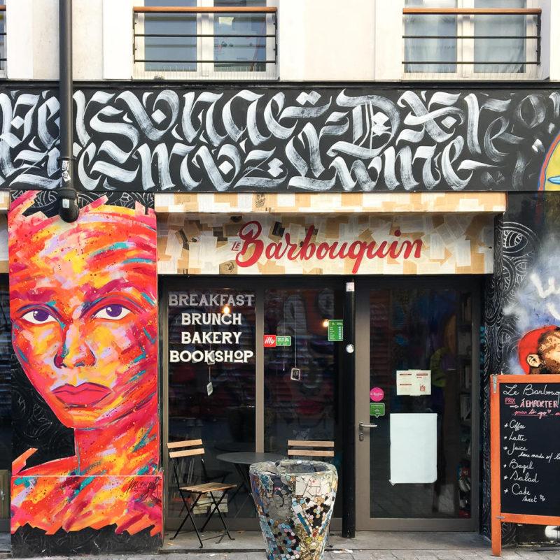 Rue Dénoyez Paris graffiti