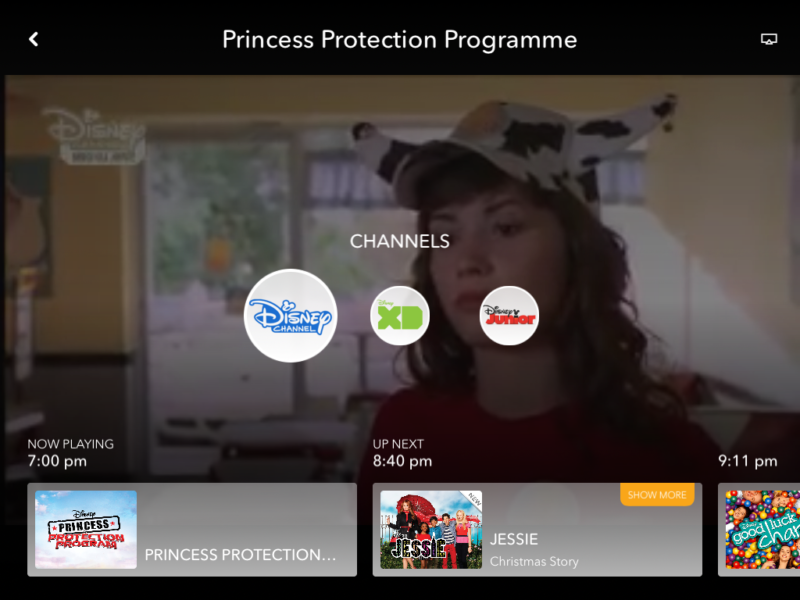 DisneyLife live TV streaming