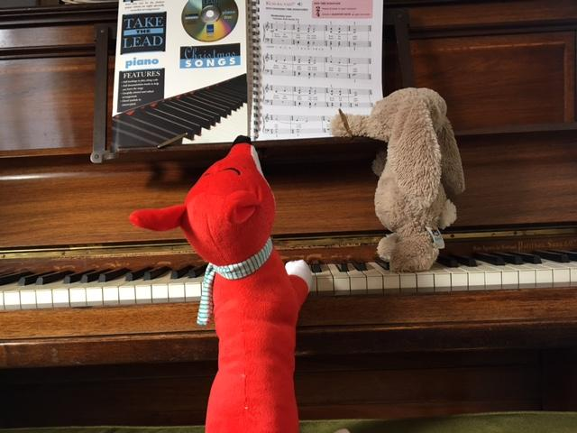 fox playing the piano