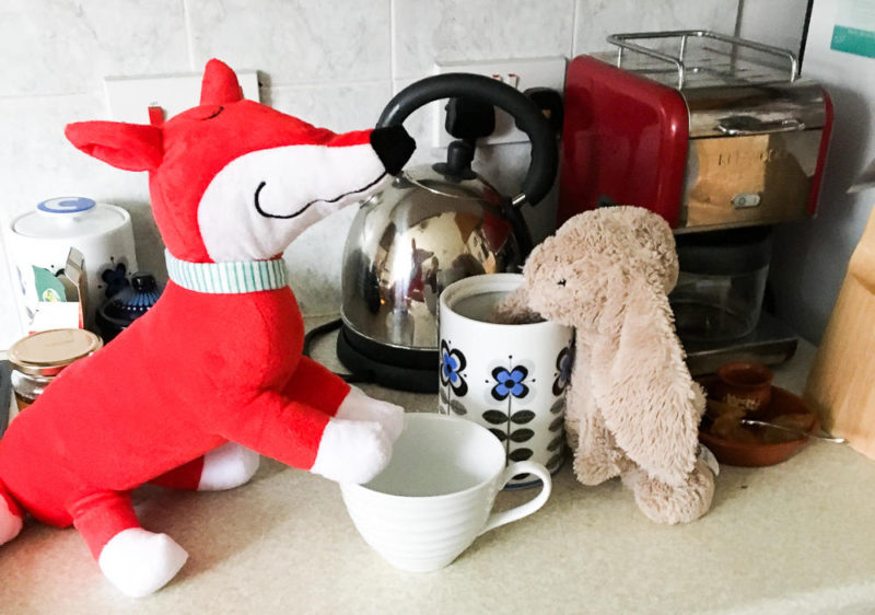 rabbit making tea