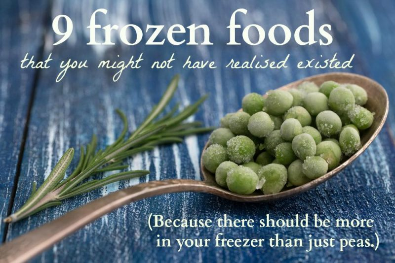 unusual frozen foods