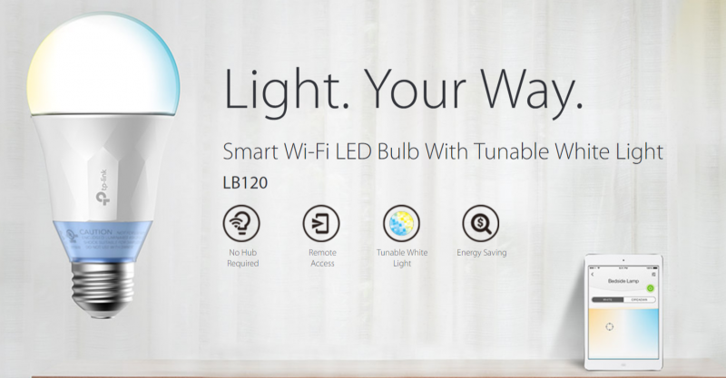 TP-Link tunable white light bulb