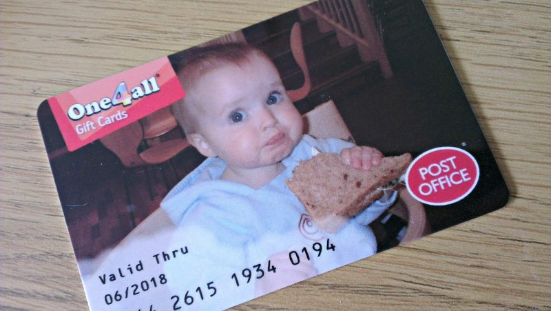 personalised One4All gift card