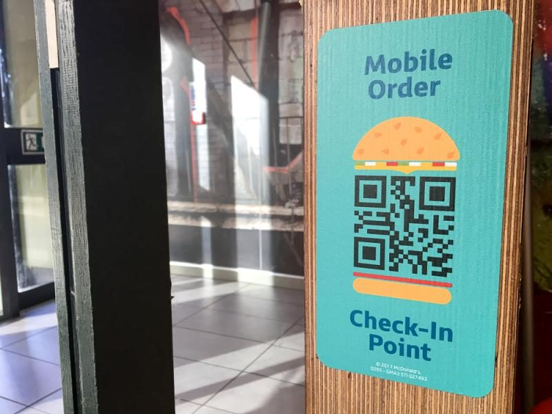 McDonalds click and collect app
