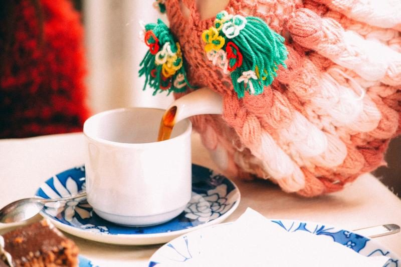 cup of tea in a teapot