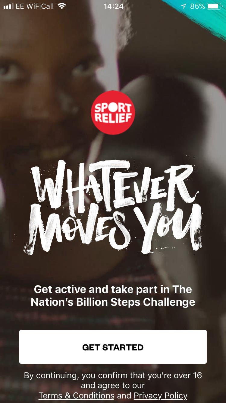 Sport relief app
