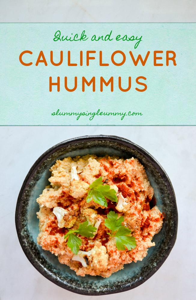 cauliflower hummus recipe