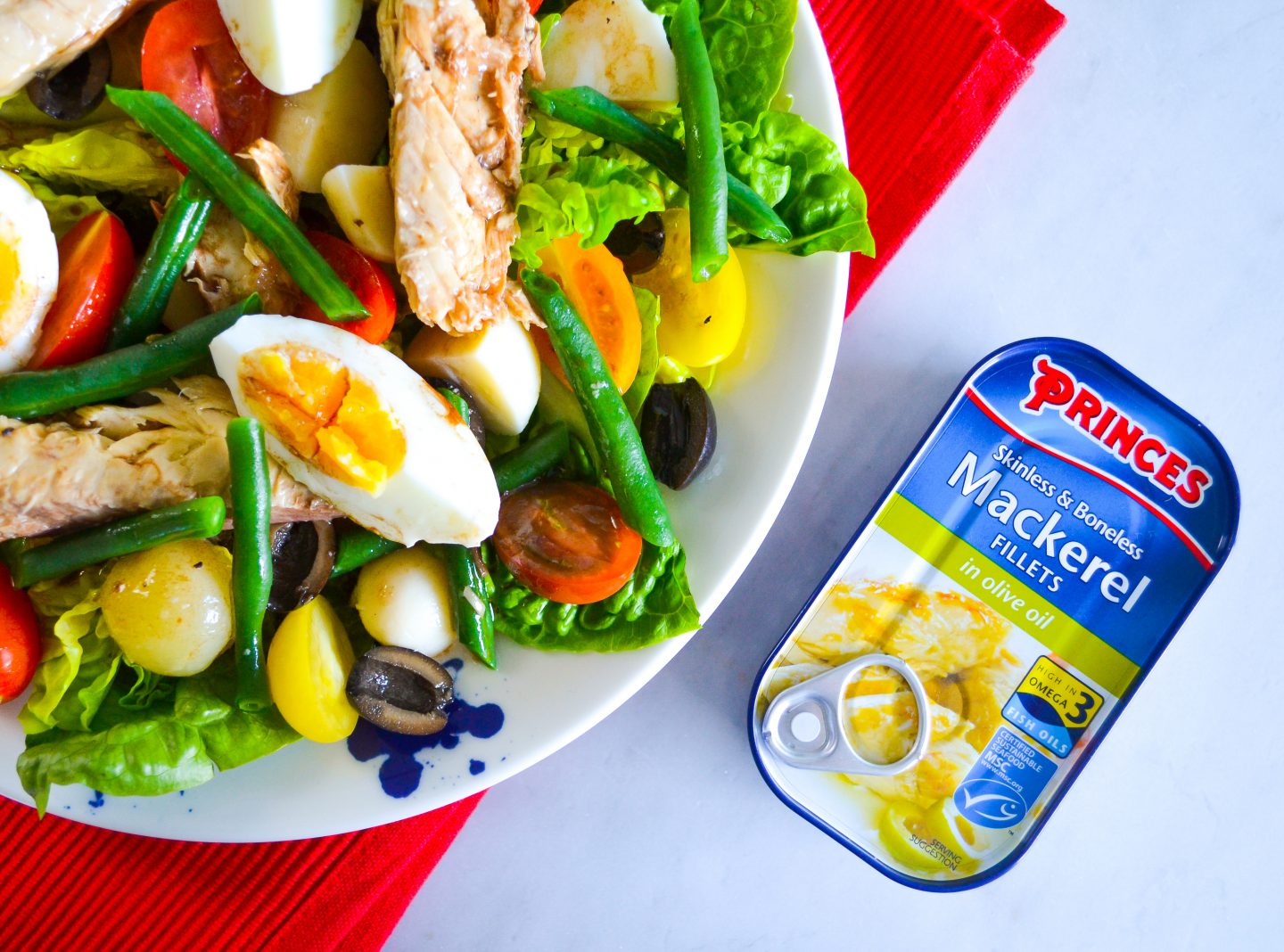 Canned mackerel salad