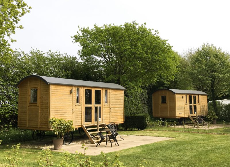 Oakdown glamping shepherd huts