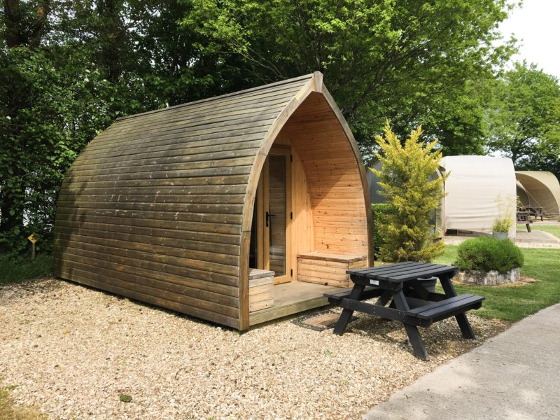Oakdown glamping camping pods