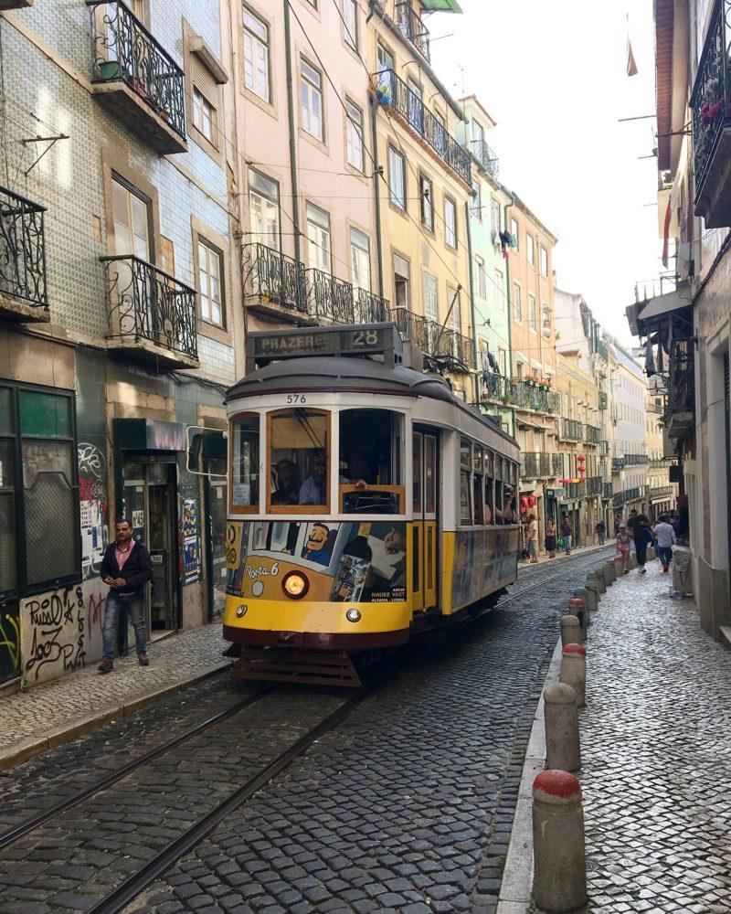 travelling alone lisbon tram