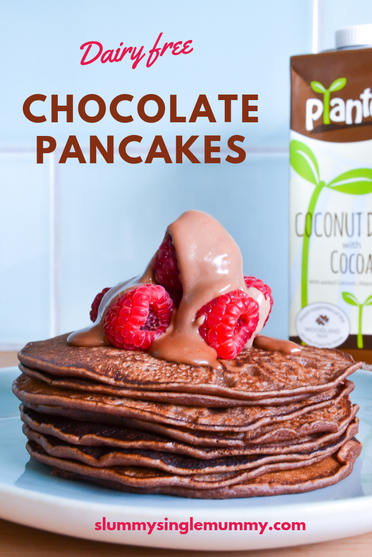 Dairy free chocolate pancakes recipe
