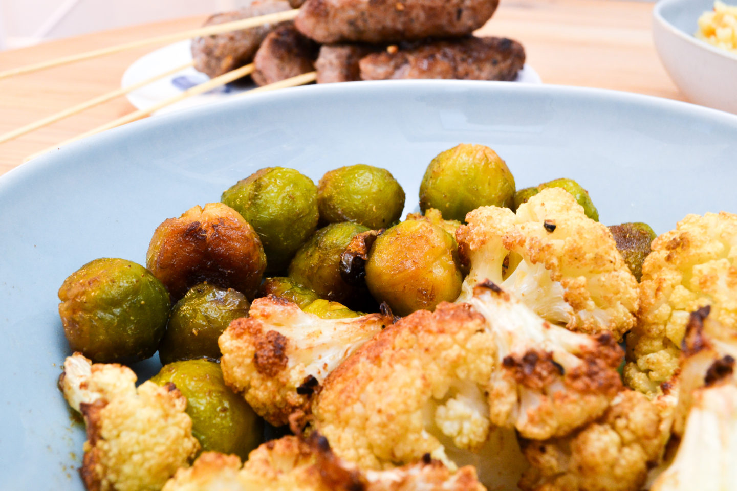 roast cauliflower and sprouts