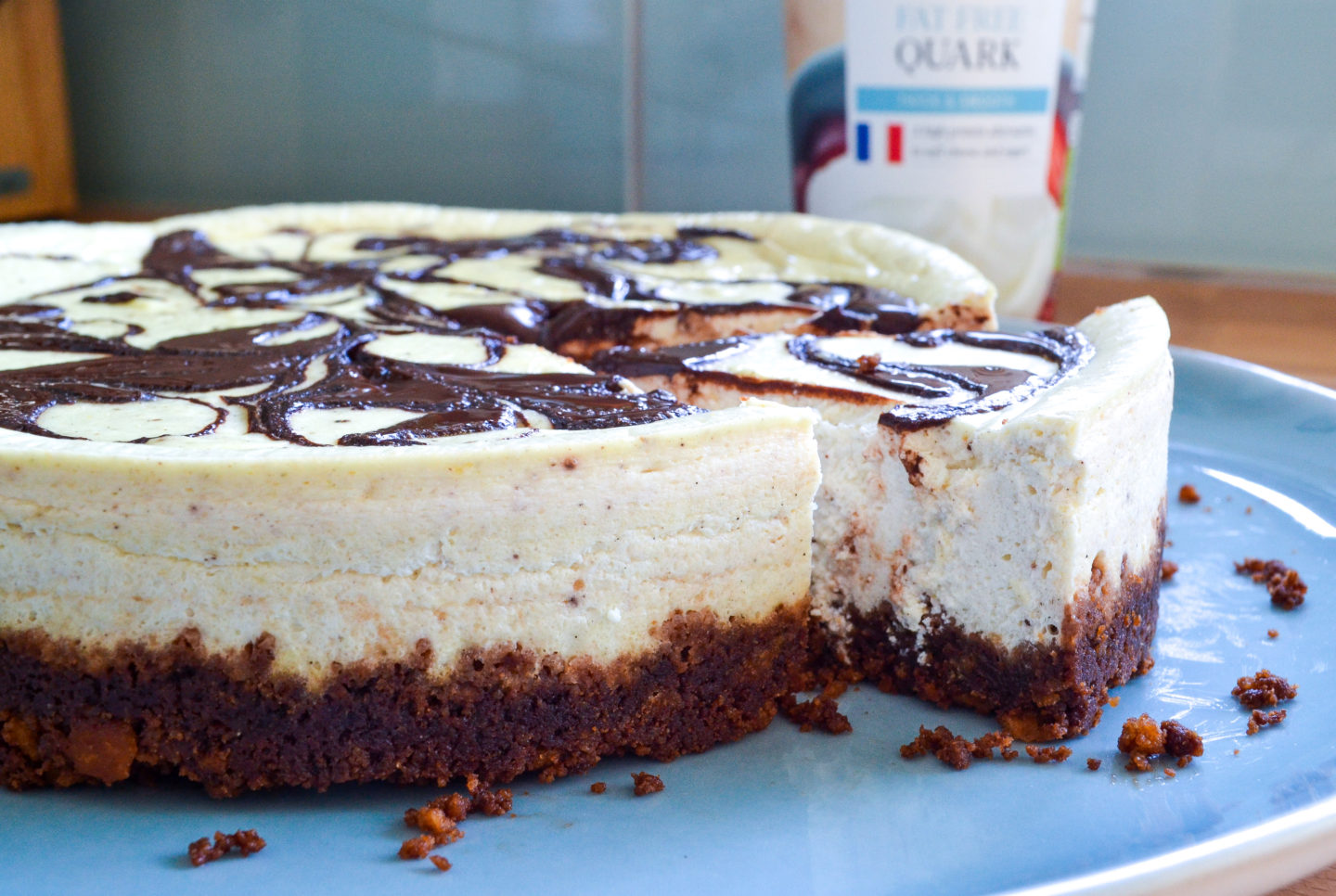 Quark baked cheesecake