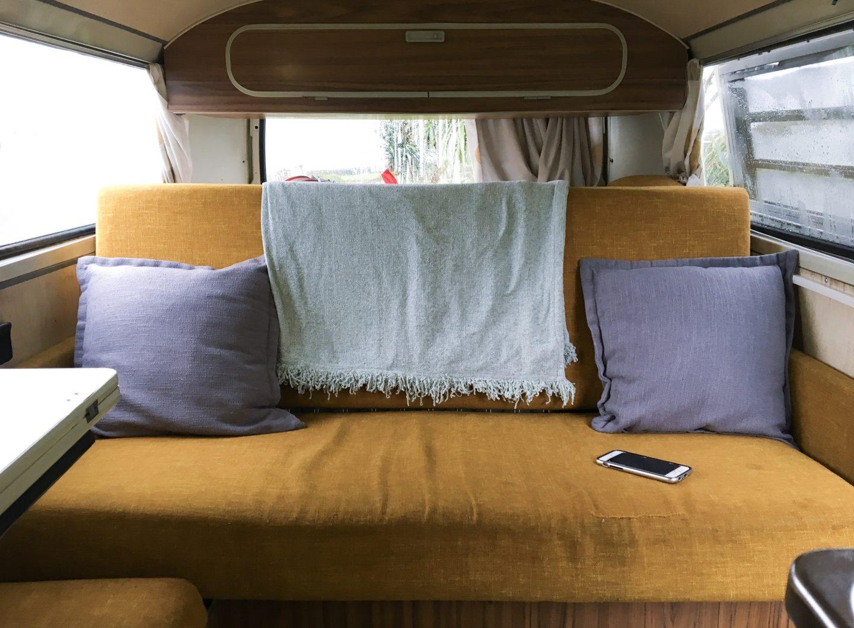 vintage VW camper interior