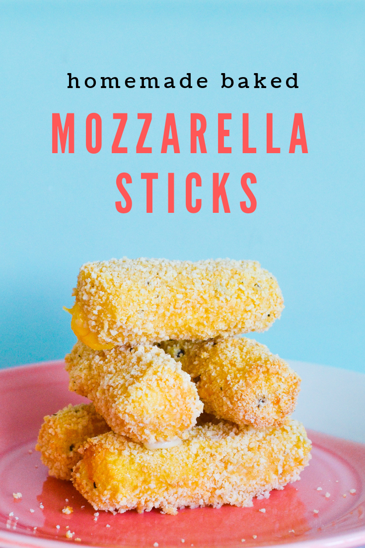 Homemade baked mozzarella sticks using Pik-Nik Twillers