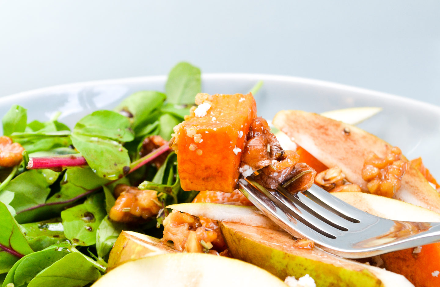 Butternut squash and walnut salad
