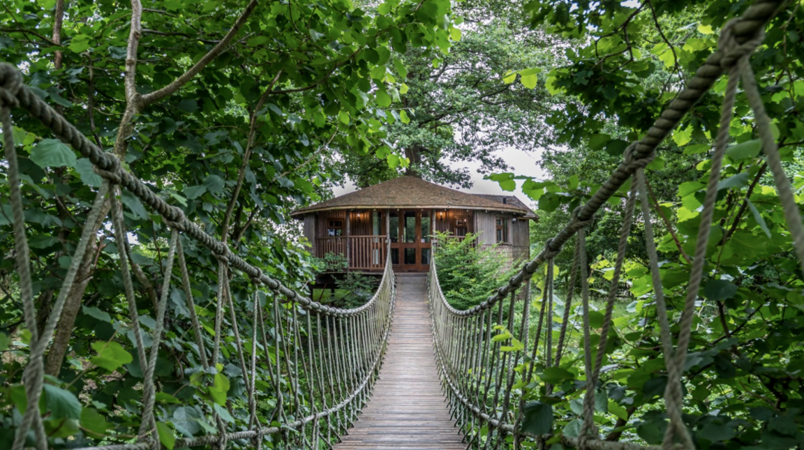 A treehouse, glamping accommodation