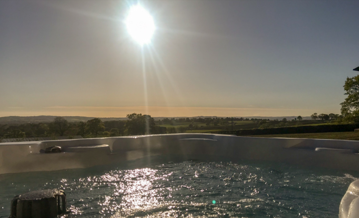 Great views from the hot tub