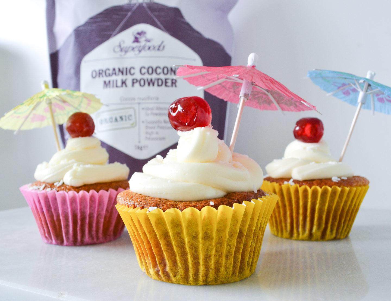 Vegan pina colada cupcakes