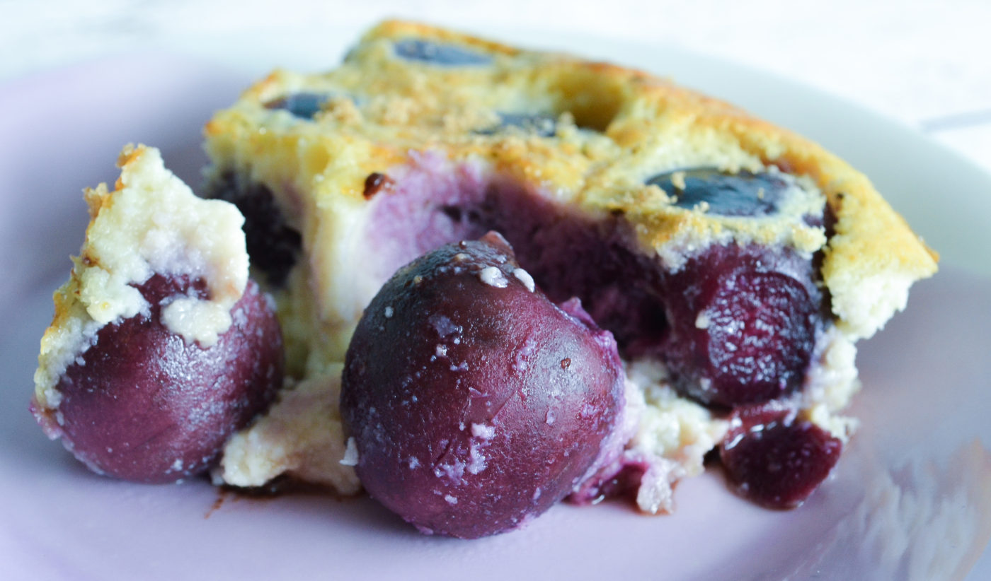 Cherry and dark chocolate clafoutis