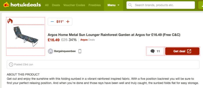 HotUKDeals garden discounts