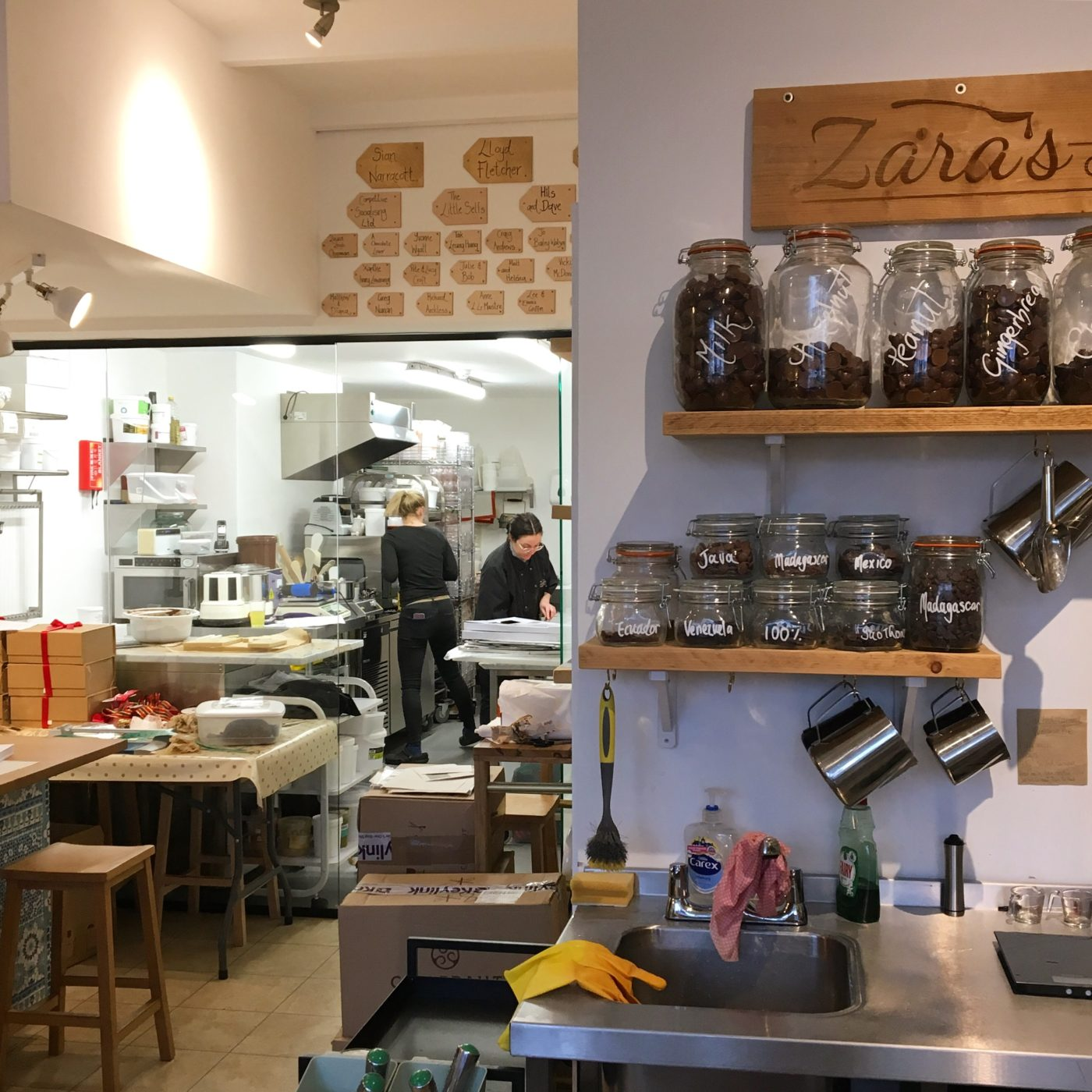 Zaras chocolate shop Bristol