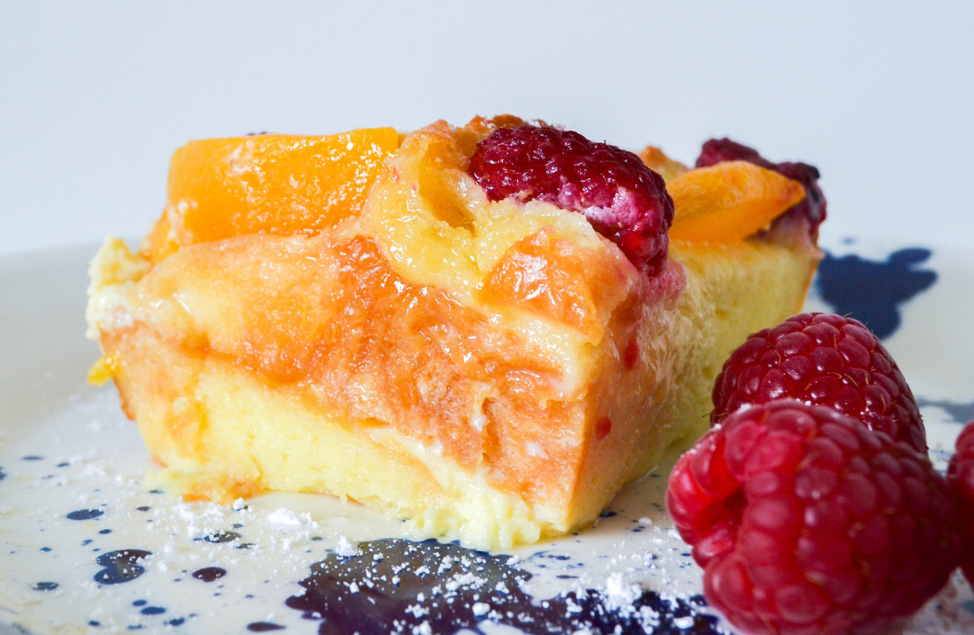 peach and raspberry bread pudding recipe