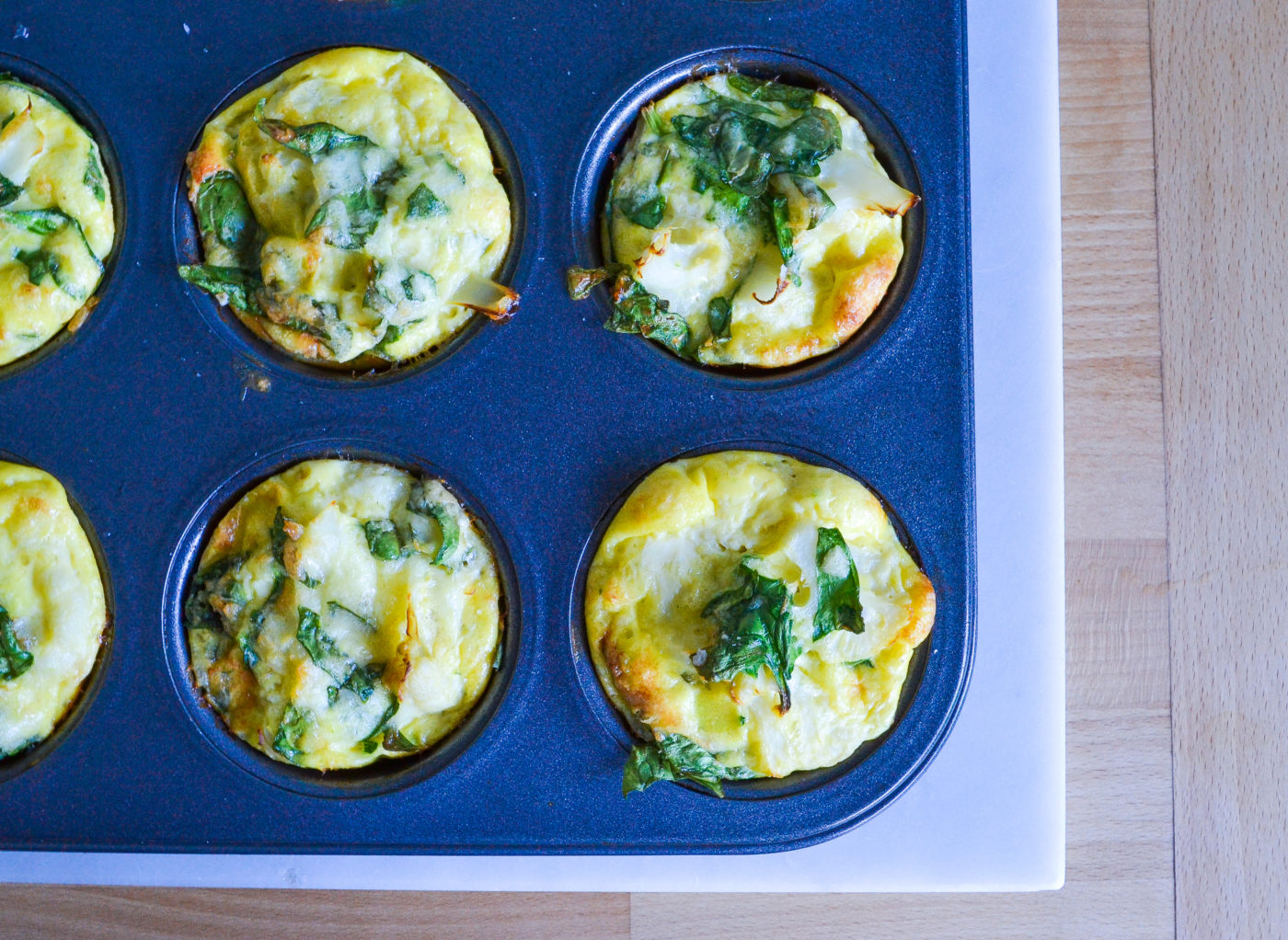 cauliflower cheese mini frittatas
