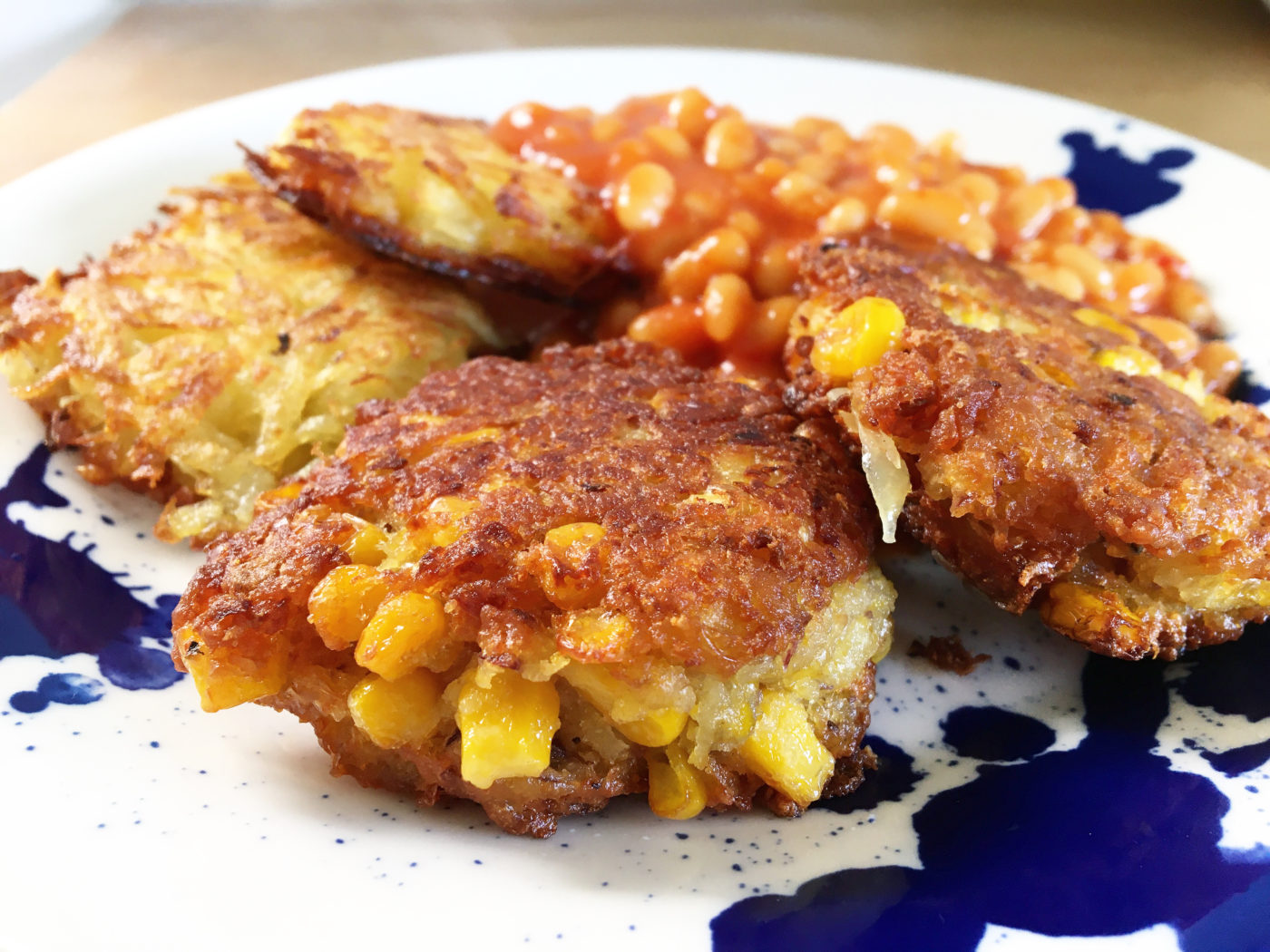 Sweetcorn fritters BTP recipe