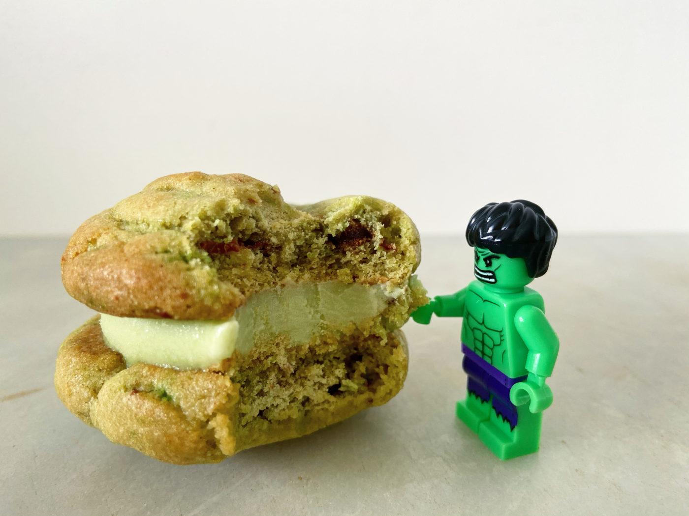 Hulk ice cream sandwiches recipe