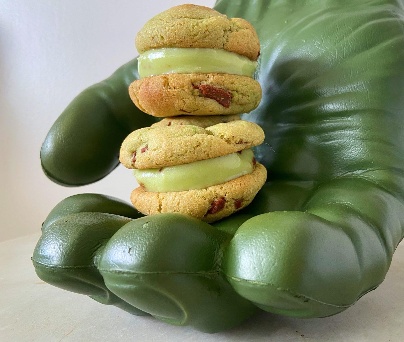 Hunka Hulka Burning Fudge ice cream sandwiches