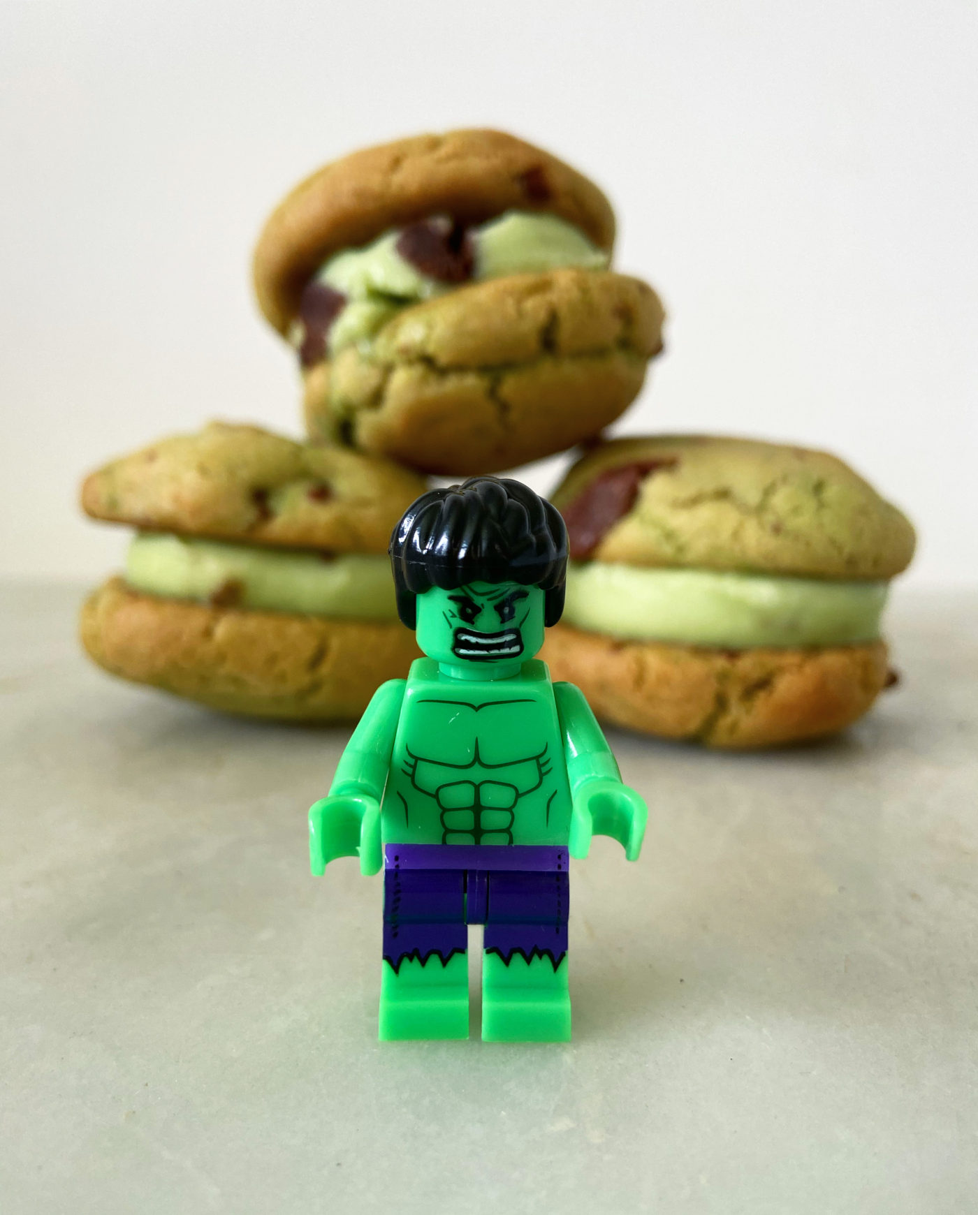 Hulk ice cream sandwiches