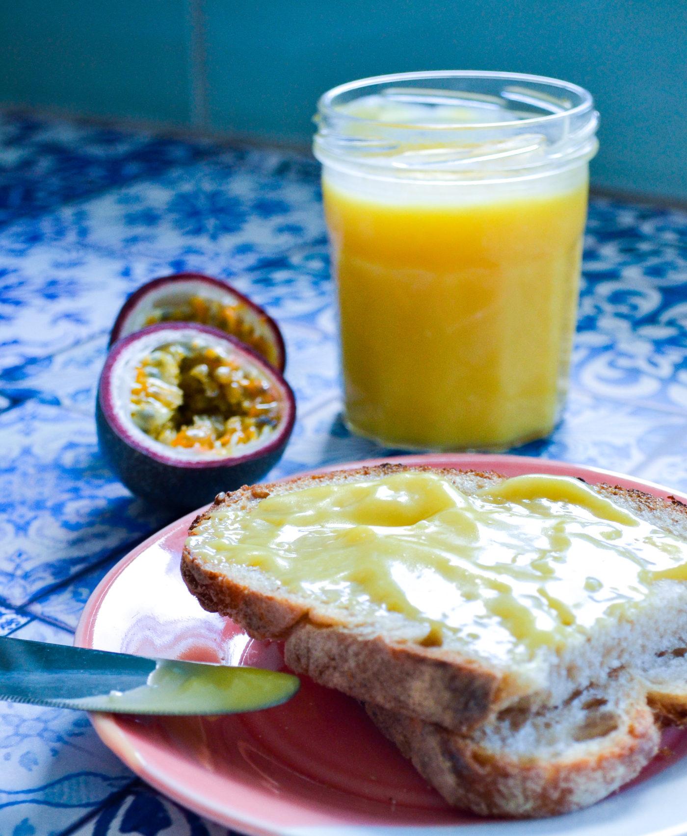 Easy passionfruit curd recipe