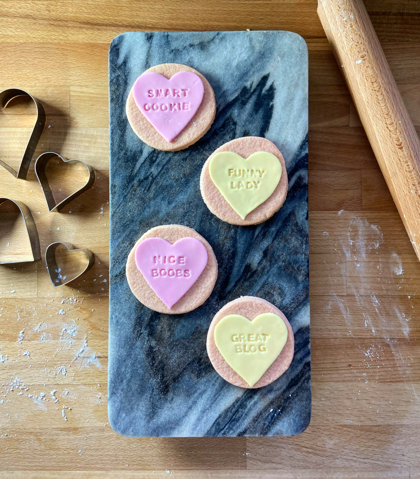 homemade love heart cookie recipe