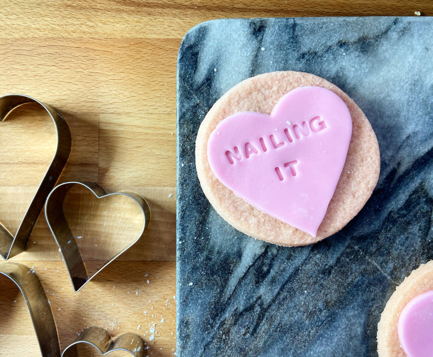 Love heart biscuits