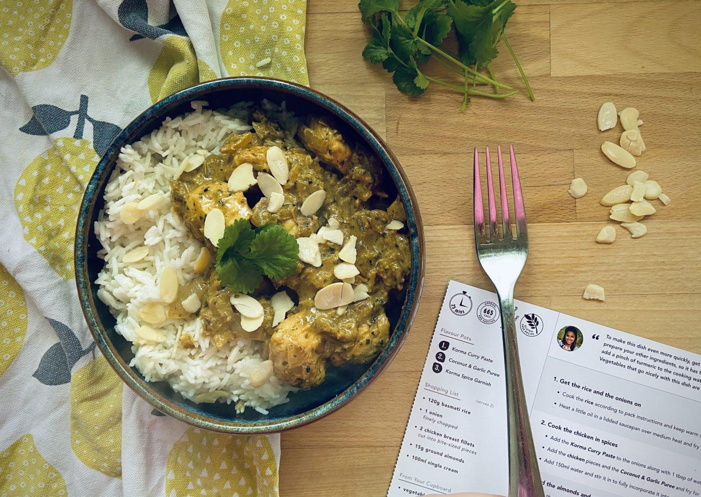Chicken korma recipe kit Simply Cook