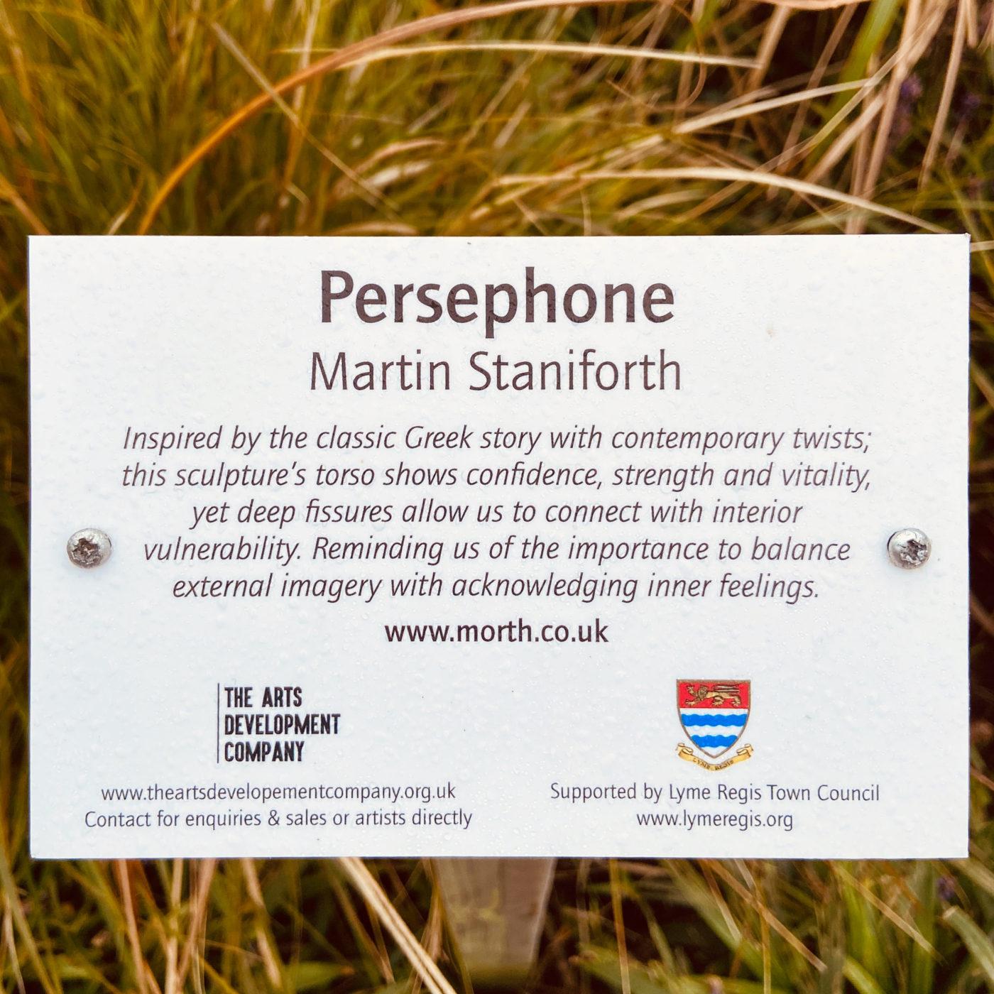 Persephone Lyme Regis gardens