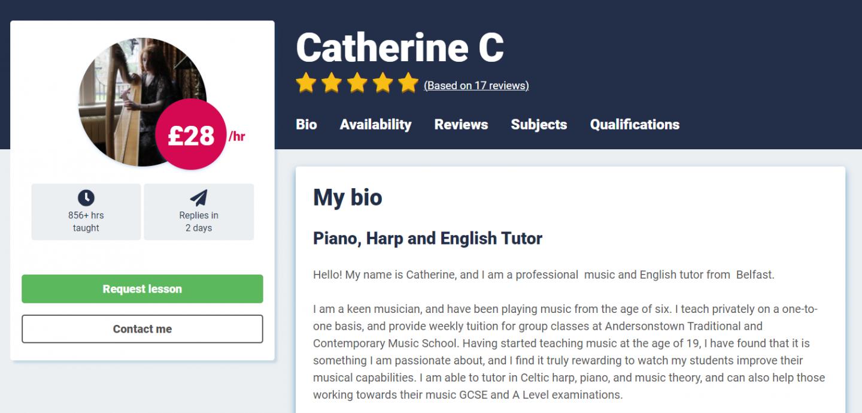 harp lessons online