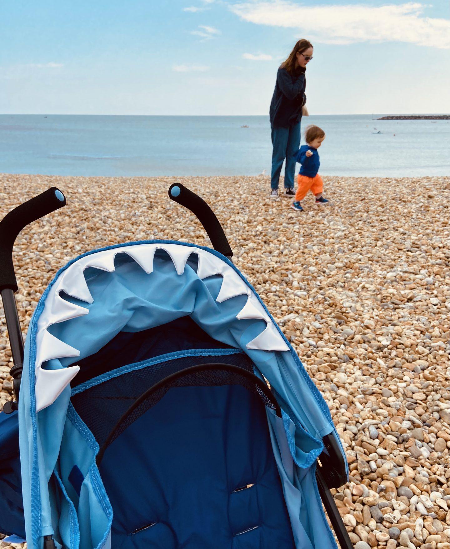 Mothercare shark buggy
